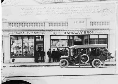 Barclay Bros. General Storekeepers, Kurow. Omarama Kurow Bus