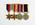 Set of WWII Medals: 1939-1945 Star Medal, Africa Star, War Medal 1939-1945, New Zealand War Service Medal.