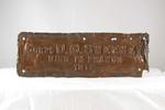 Memorial Oak Plaque