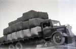 Kurow Motor Garage truck transporting wool
