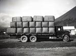 Kurow Motor Garage truck transporting wool