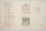 Plan of Building in Tees St for Mr Marshall