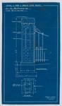 Detail of pair of brick gate posts for Jas McDiarmid Esq (Blueprint)