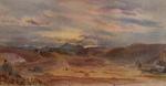 The Parsonage, Oamaru (sundown, Mt. Domett, in the distance)