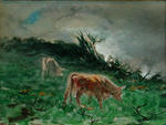 Untitled (Cows in a Landscape)