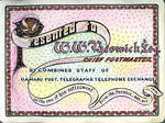 Illuminated address  for William Whitwell Beswick's retirement as Oamaru Post Master