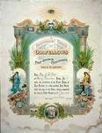 Fox, J R.  Past Grand Certificate, Star of Papakaio Lodge