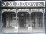 J M Brown Bookseller & Stationer. Shop front