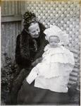 Mrs John McKenzie Snr and grandson Jack Cameron.