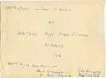 Waitaki Boys High School events 1916. Album of Ralph Garland