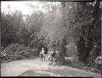 Children in Oamaru Public Gardens