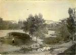 Woman at a creek