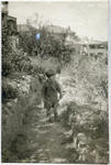 Child on a garden path