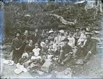 Picnic group photo. Unidentified