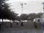 Unidentified women playing croquet