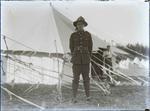 Unidentified volunteer at encampment