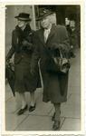 Two women on city street