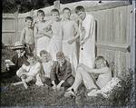 Unidentified boys Waitaki Boys High School swimming pool