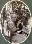 Unidentified woman with cat