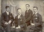 D Brown, H Valentine, Alfred Leslie and E Moyle