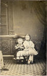 Unidentified young girl and boy