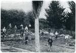 Hampden School students in the garden.