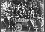 Frank Crawshaw, Building Contractor and staff  late 1920